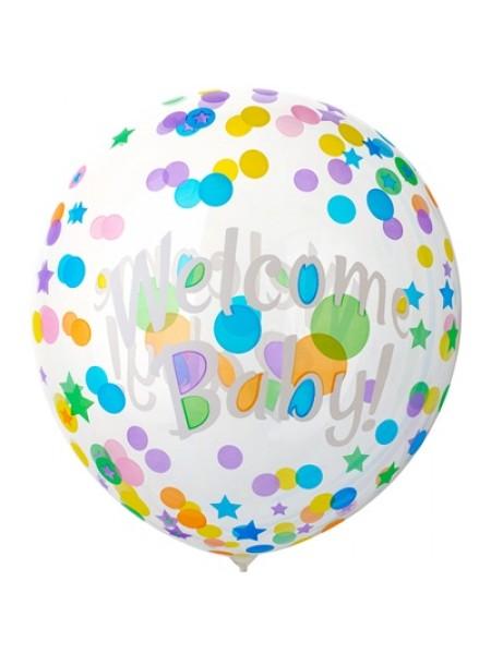 """Шар сфера Bubble 18""""/46 см Welcom BABY"""