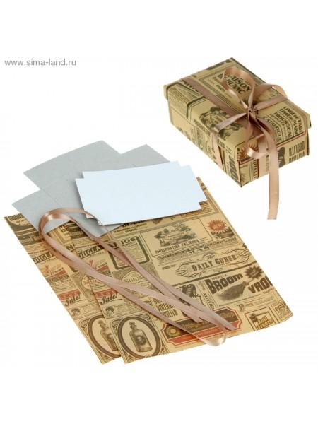 Набор для декорорирования подарочной коробки Газетные вырезки 21 х 29,8 см