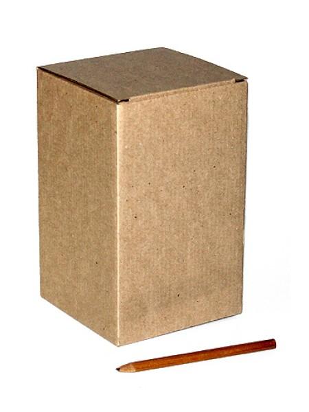 Коробка микрогофра 16/001-93 без декора под кружку 11 х 11 х 18 см