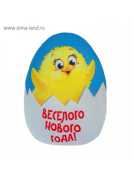Игрушка - антистресс Веселого Нового года цыпленок