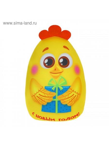 Игрушка - антистресс С Новым годом цыпленок