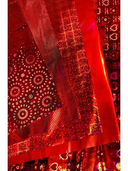Пленка голография 100/001-20 Красный микс 100 х 70 см