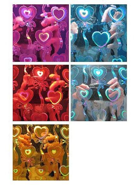 Пленка голография 100/054 Сердца с бантиком 100 х 70 см