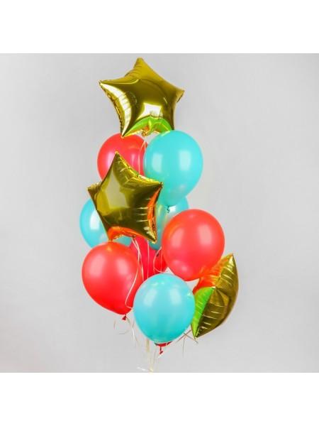 Набор шаров Воздушный латекс макарун фольга набор 12 шт