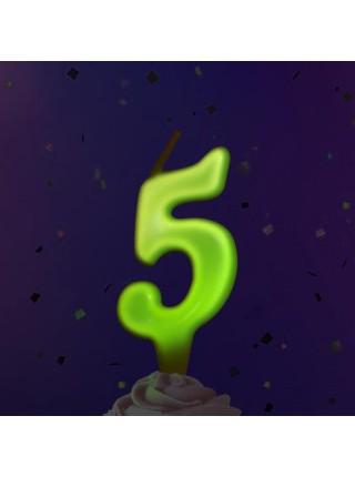 Тортовая люминесцентная свеча 5