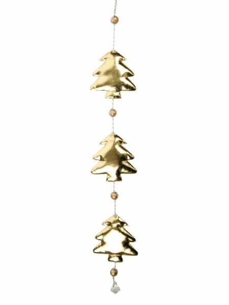 Гирлянда Три золотистые елочки 8 х 1,5 х 50 см полиуритан