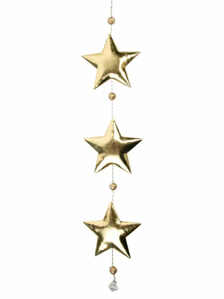 Гирлянда Три золотистые елочки 10,5 х 1,5 х 50 см полиуритан