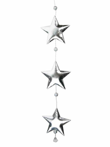 Гирлянда Три серебристые звездочки 10,5 х 1,5 х 50 см полиуритан