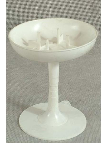 Чаша на подставке 13 х 14 см пластик цвет белый Арт.4023 88-1137
