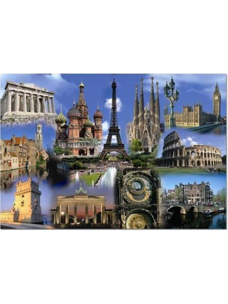 2000 элементов пазл коллаж Европа