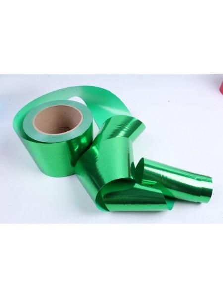 Лента металл 8 см х 50 ярд цвет зеленый М849