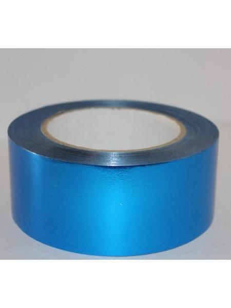 Лента металл 5 см х 50 ярд цвет синий М547