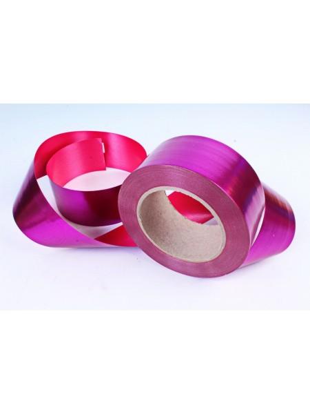 Лента металл 5 см х 50 ярд цвет малиновый М545