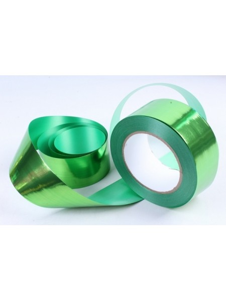 Лента металл 5 см х 50 ярд цвет зеленый М549