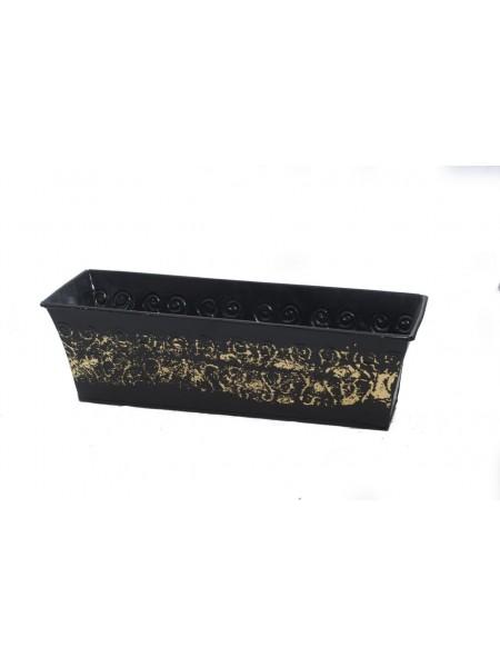 Кашпо металл 59831 М черн/золот 12/5*14*41см