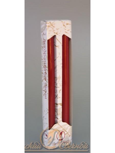 Классическая бордовая свеча упаковка 2 шт