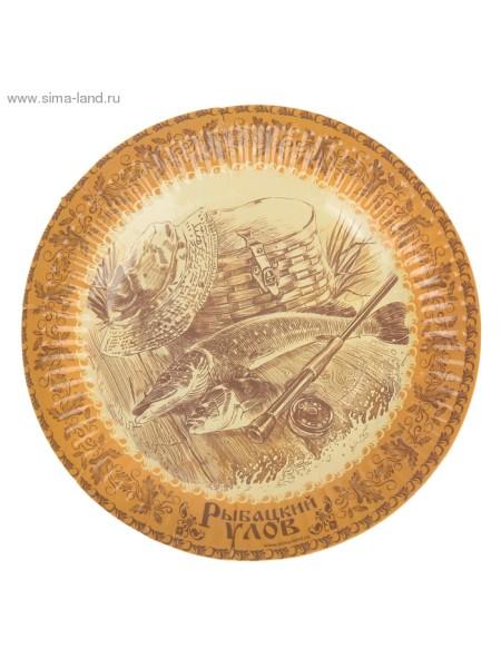 Тарелка бумага Рыбацкий улов набор 6 шт 18 см