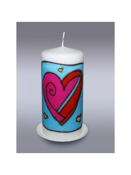 пенек с сердцем свеча