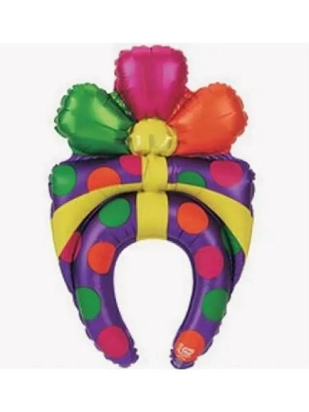 фольга шар фигура В25 Подарок - ободок /Present США