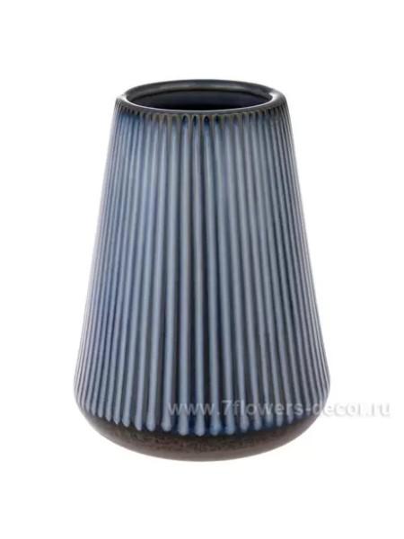 Ваза керамика D14 х H19 см цвет синий арт. 947-М
