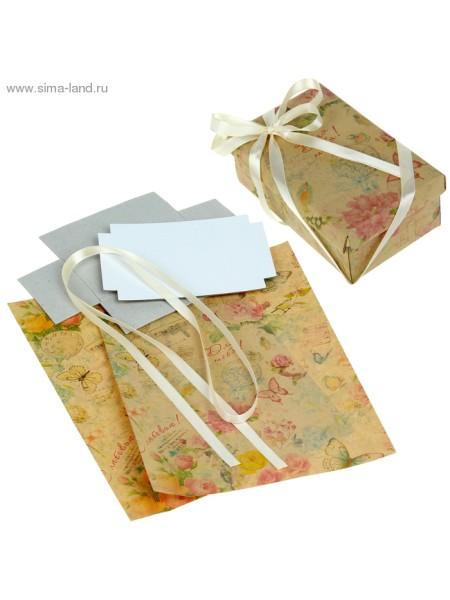Набор для декорорирования подарочной коробки Винтаж 21 х 29,8 см
