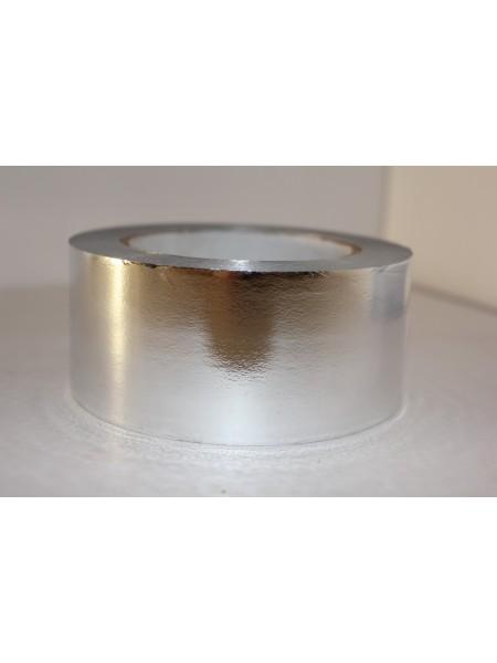 Лента металл 5 см х 50 ярд цвет серебрянный М544
