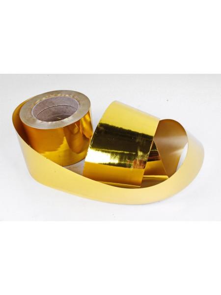 Лента металл 8 см х 50 ярд цвет золотой М899
