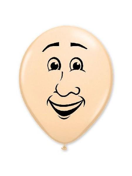 """16""""шар с рисунком  Лицо мужское,шар воздушный"""