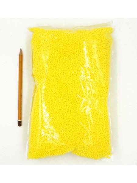 Наполнитель шарики пенопласт 4 мм цвет желтый HS-26-2