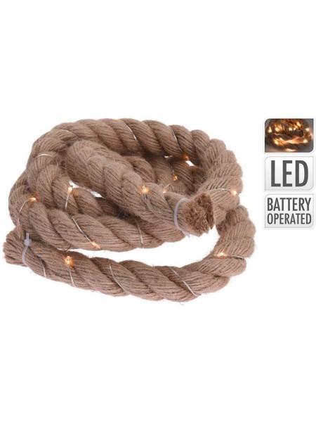 Веревка декоративная с LED огнями 120 см