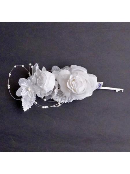 Аксессуар свадебный бутоньерка роза 2 бутона