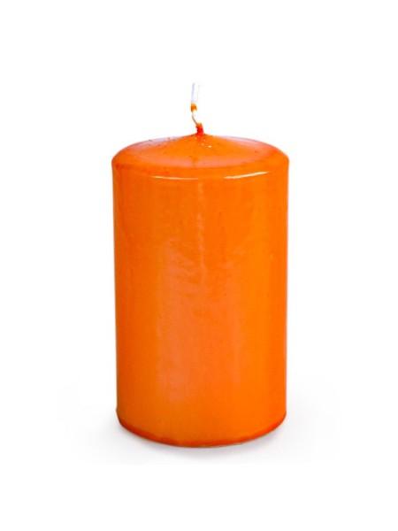 Свеча пеньковая 60 х 100 оранжевый блеск