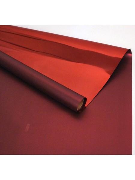 Пленка глянцевая 58 см х 5 м цвет красный