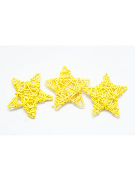 Звезда ротанг 8 см цвет микс