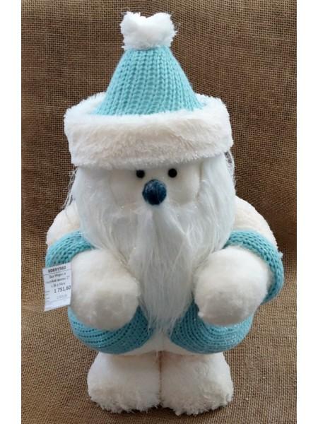 Дед Мороз в голубой шапке 27 х 26 х 54см