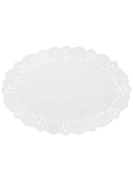 Салфетки ажурные 31,5 х 21 см овальные набор 100 шт цвет белый HS-38-15