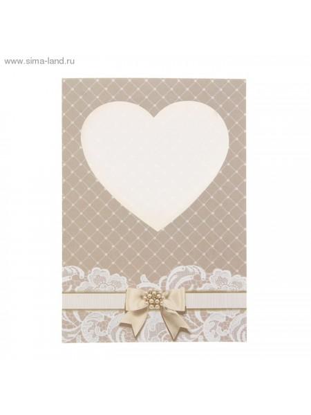 Открытка-паспарту Свадебная 12х17 см упаковка 5 шт