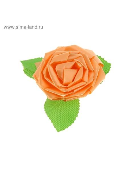 Бант-роза №6 оранжевый