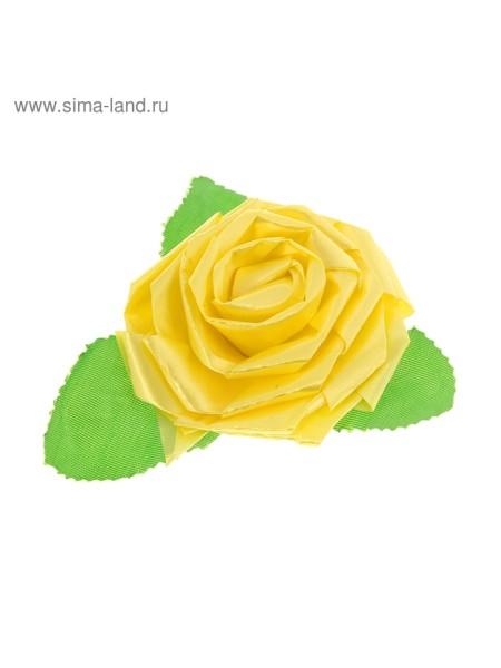 Бант-роза №6 желтый