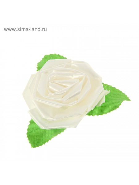 Бант-роза №6 белый