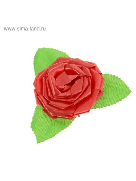 Бант-роза №6 красный