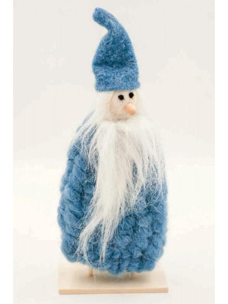 Дед Мороз голубой войлок 30см