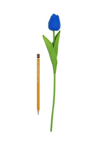 Тюльпан 33 см силикон цвет синий 1/10