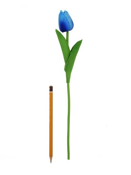 Тюльпан 33 см силикон цвет голубой 1/10