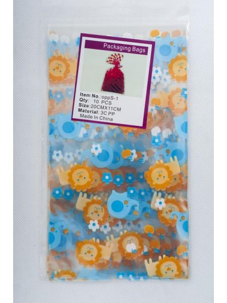 Пакет прозрачный с рисунком Детский 11 х 20 см (10шт)