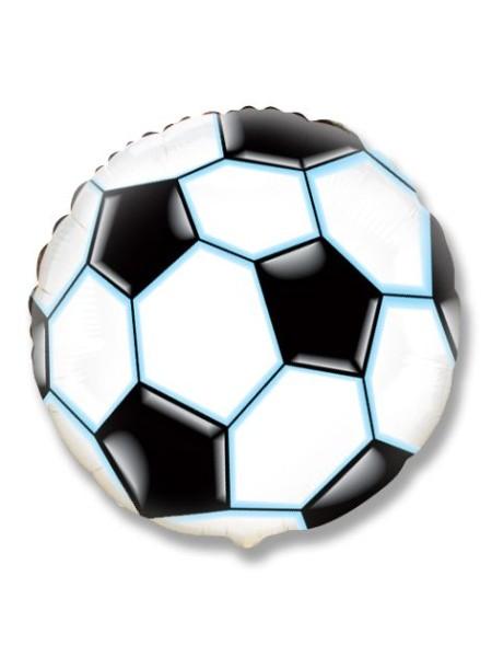 """Фольга шар Круг 9""""/23 см Футбольный мяч 1шт Испания Flexmetal"""