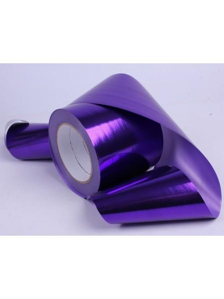 Лента металл 10 см х 50 ярд цвет фиолетовый М1046