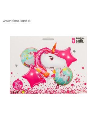 Букет шаров Вечеринка принцессы фольга набор 5 шт