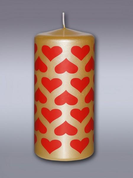 пенек подарочный золотой свеча