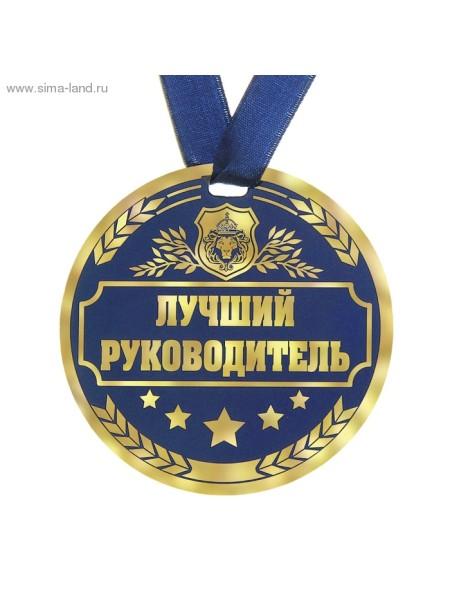 Медаль Лучший руководитель 9 см